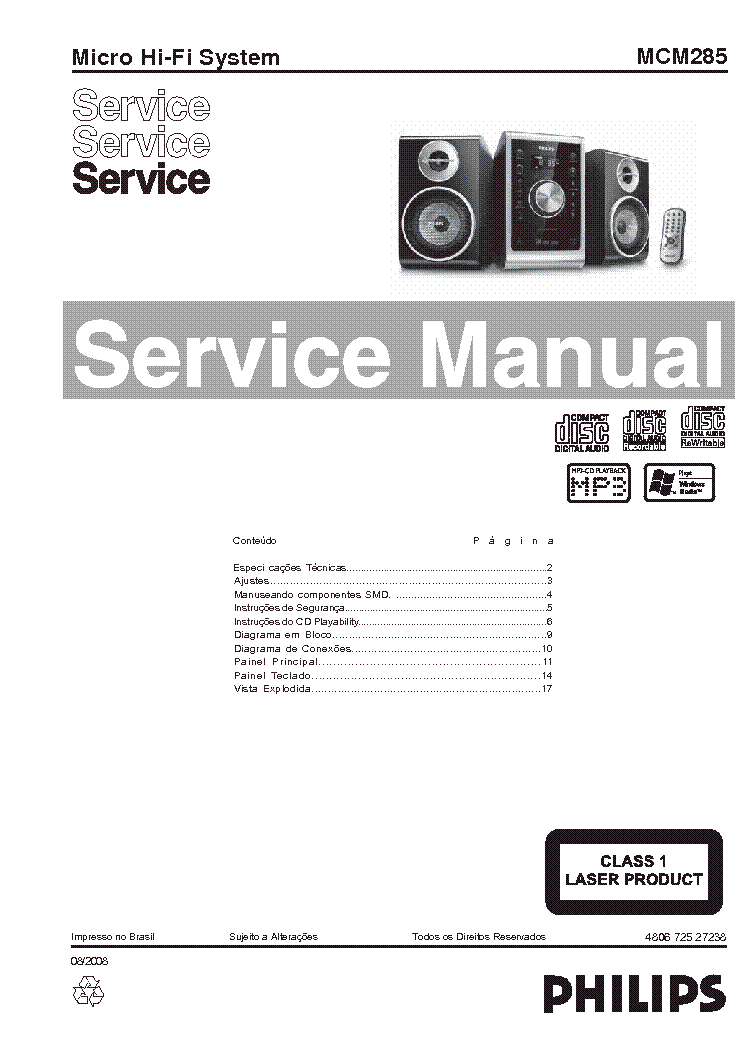 PHILIPS F4121 SM Service Manual free download, schematics