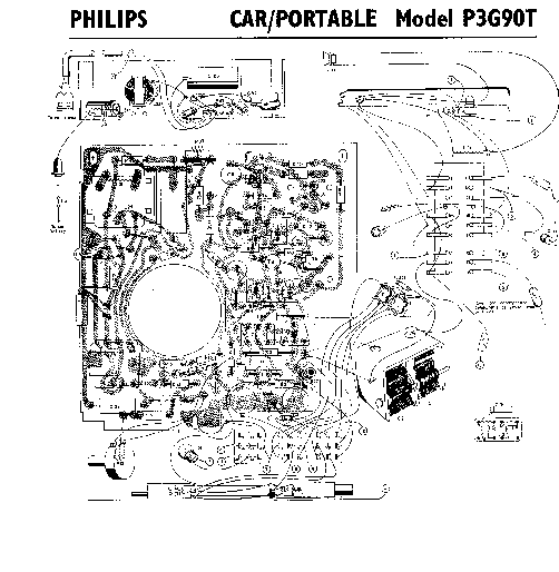 PHILIPS P3G90T CAR PORTABLE RADIO SM Service Manual