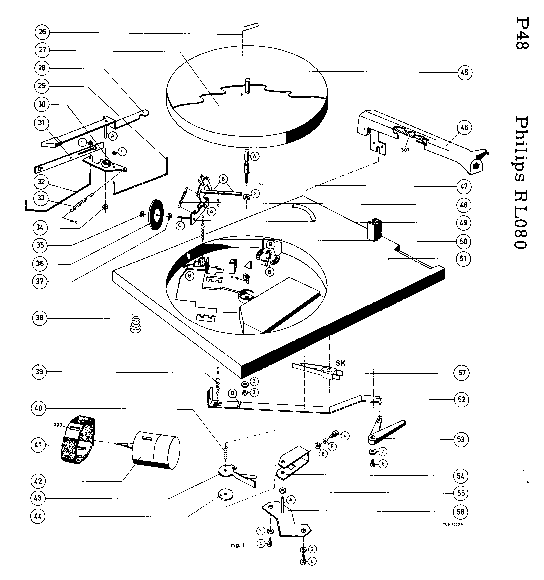 PHILIPS RL-080 SM Service Manual download, schematics
