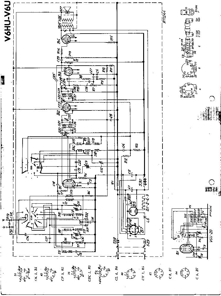 PHILIPS V6U V6HU AC-DC RADIO SM Service Manual download
