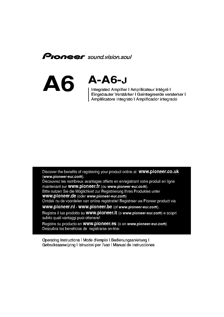 PIONEER A-A6-J SM Service Manual download, schematics
