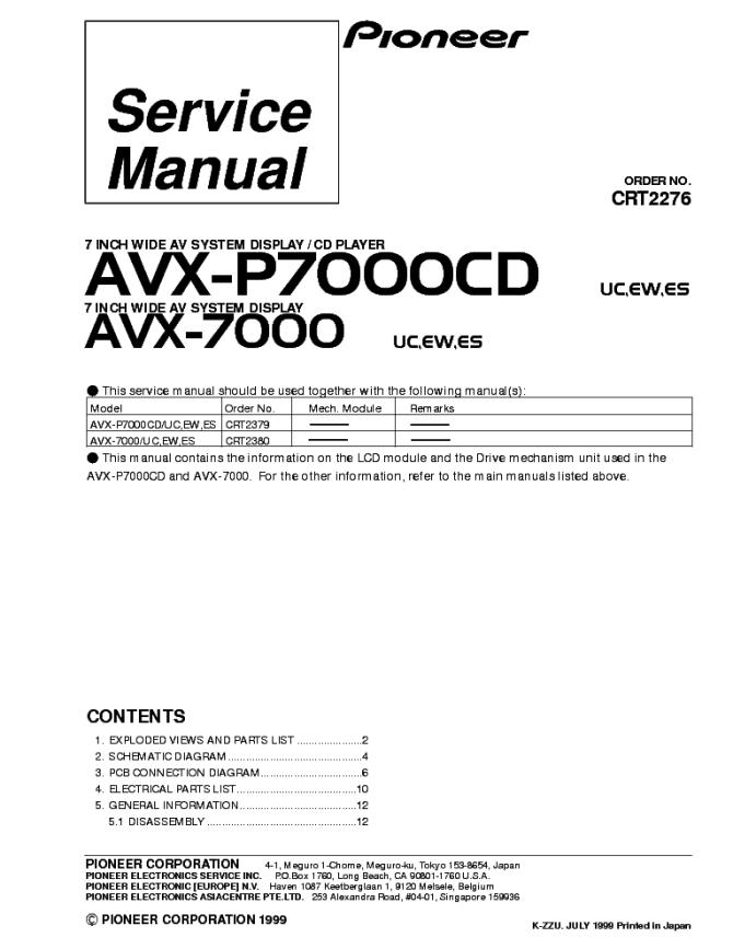 pioneer pl570 sm service manual download schematics