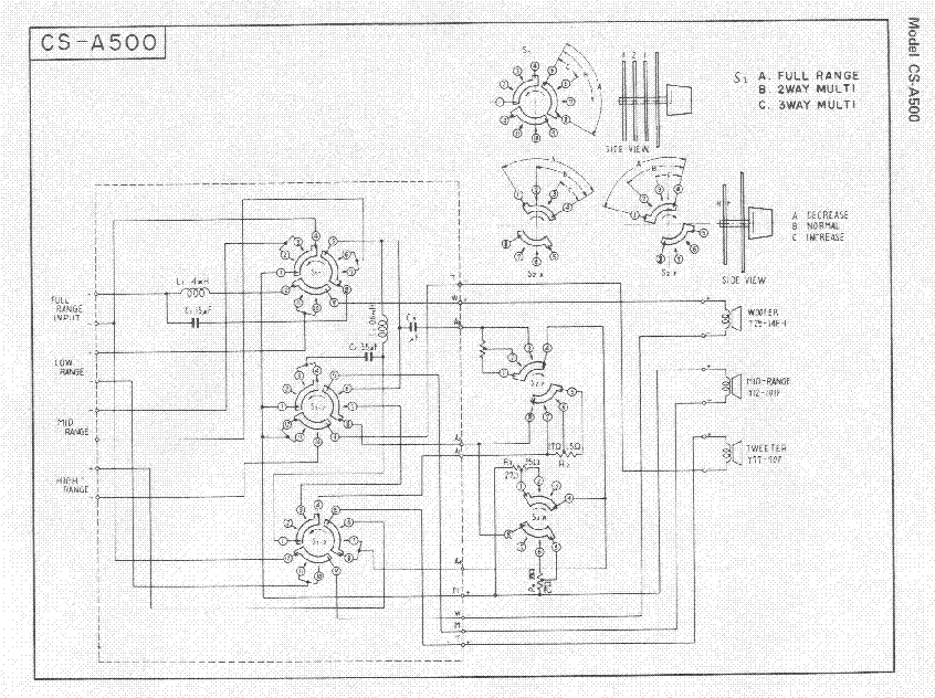 PIONEER CS-A500 SCH Service Manual download, schematics