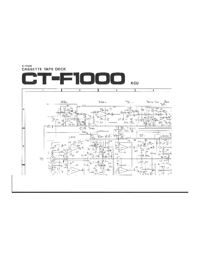 PIONEER CT-F1000 SCH Service Manual download, schematics