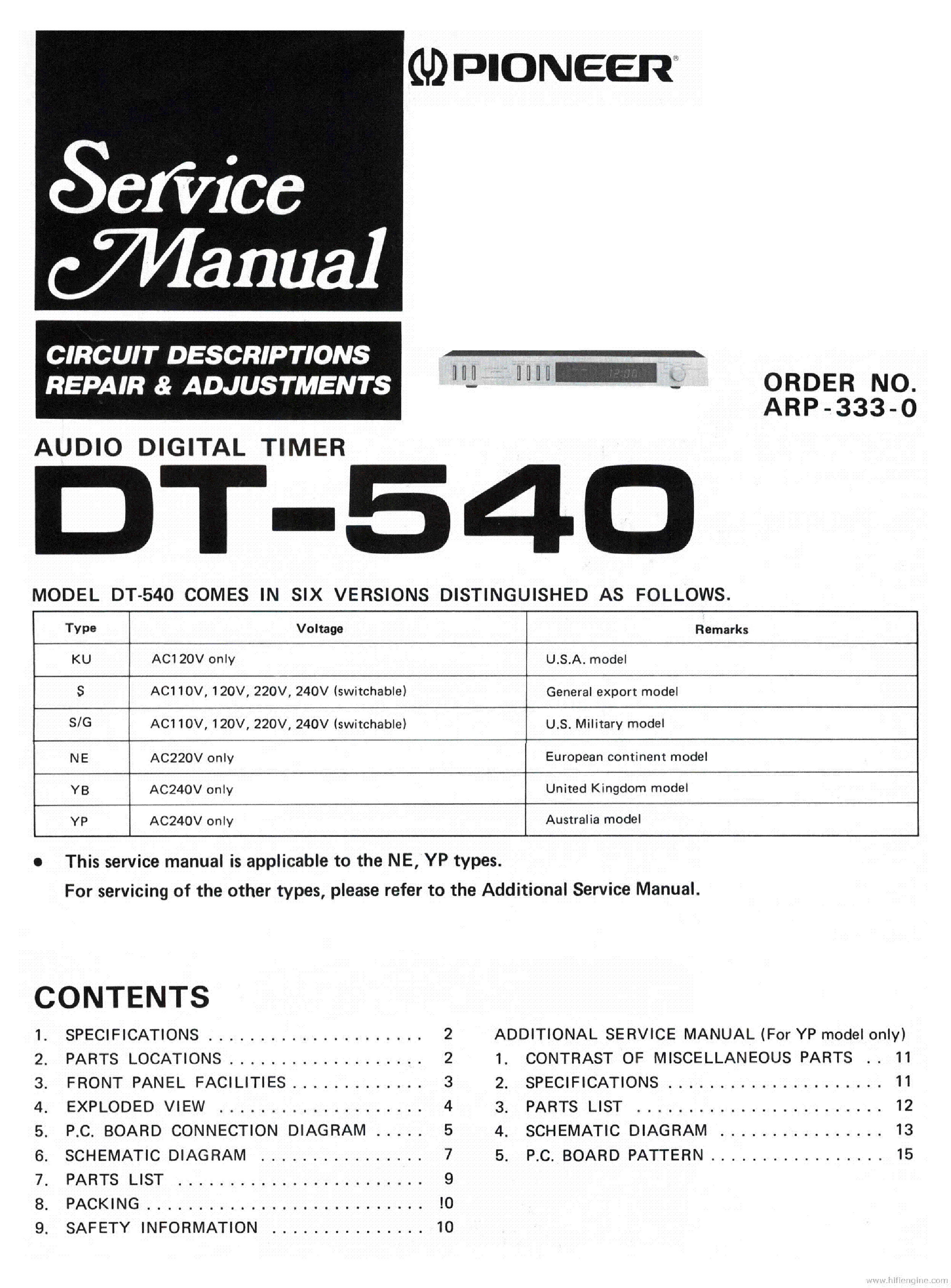 PIONEER C21 Service Manual free download, schematics