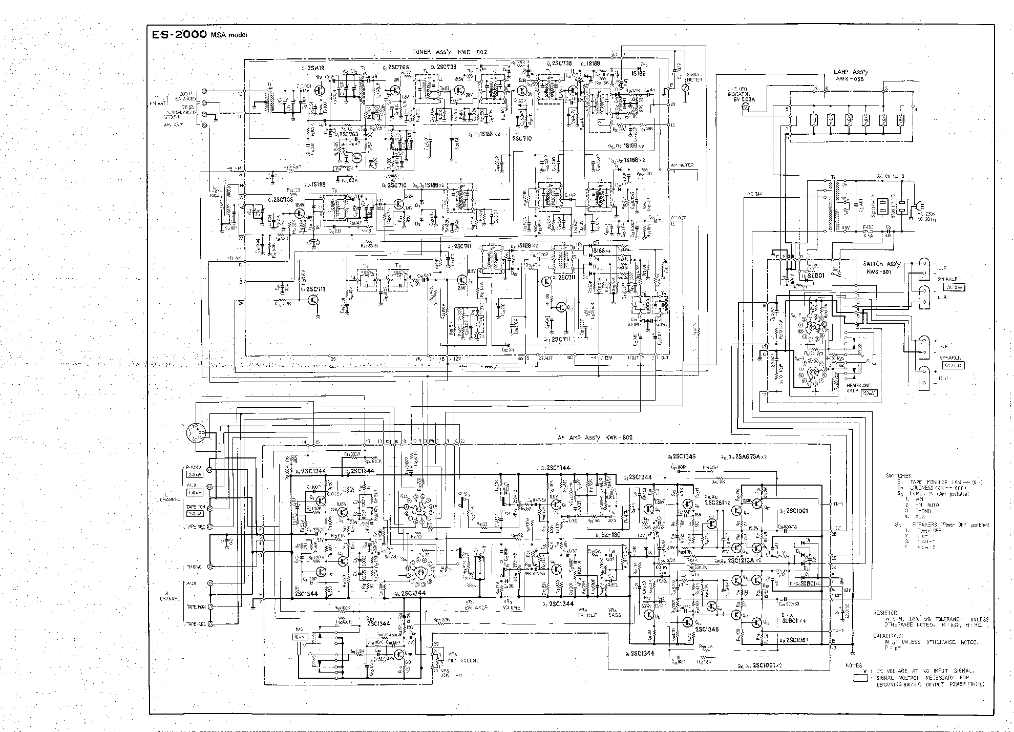 PIONEER ES-2000 SCH Service Manual download, schematics