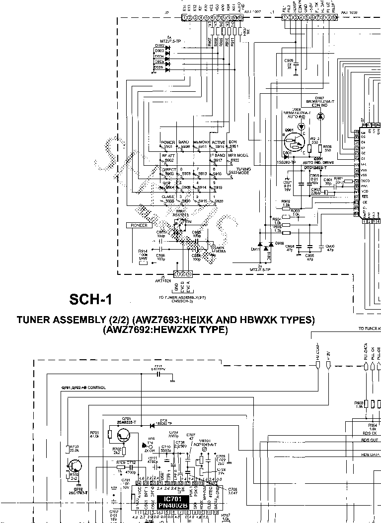 PIONEER VSX-AX5I Service Manual free download, schematics