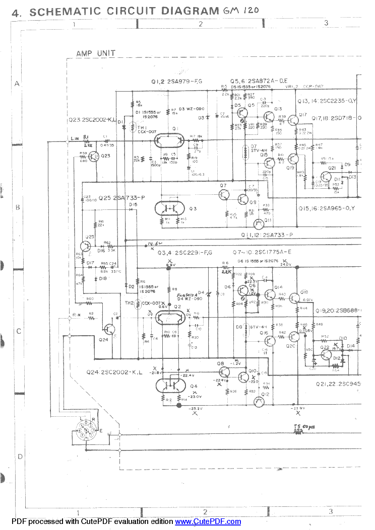 PIONEER GM-120 SCHEMATIC Service Manual download