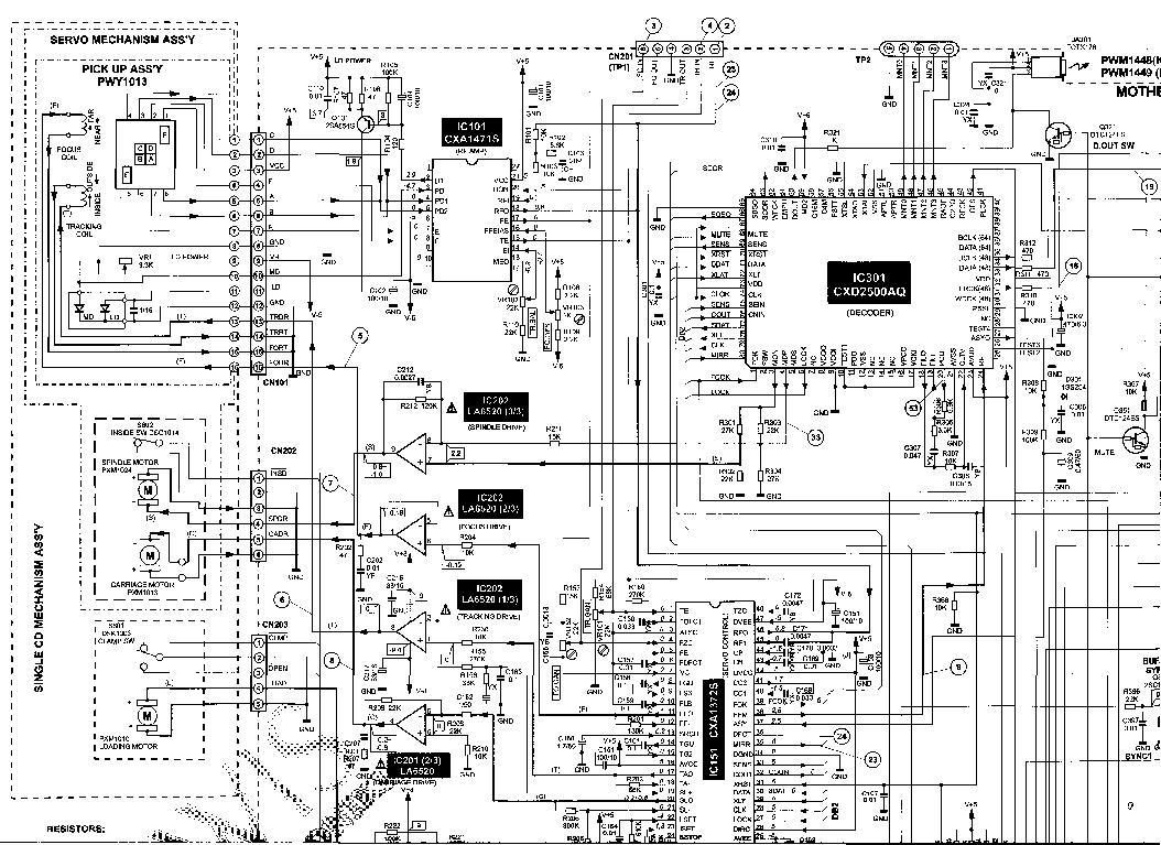 PIONEER VSX-321 Service Manual free download, schematics