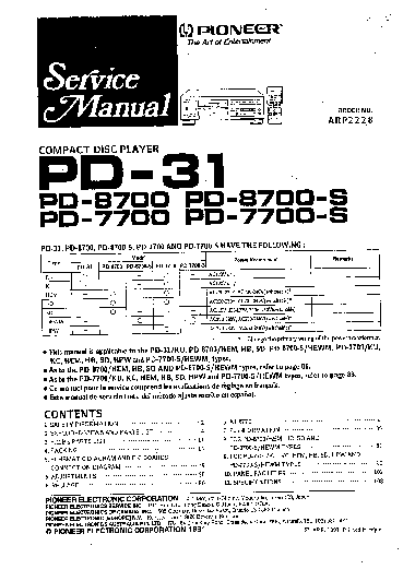 PIONEER PL-600 SM Service Manual free download, schematics
