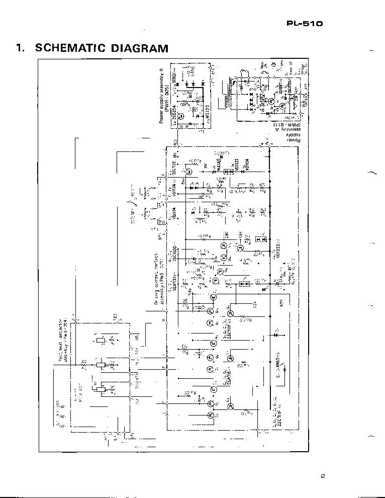 PIONEER PL-510DD Service Manual download, schematics