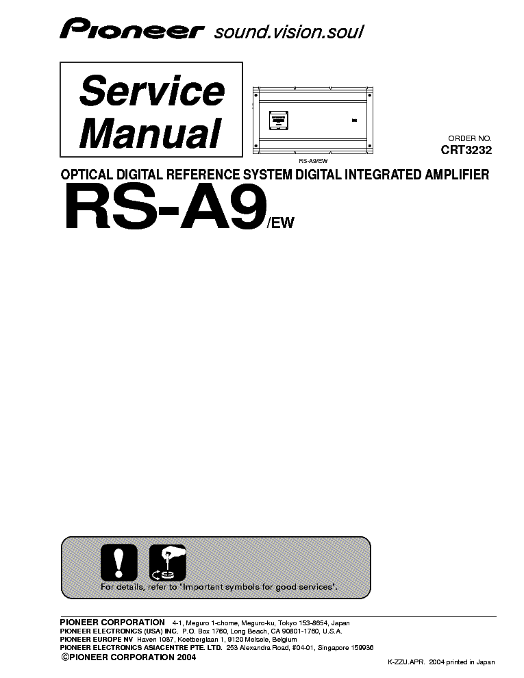 PIONEER CS-33A SCH Service Manual free download