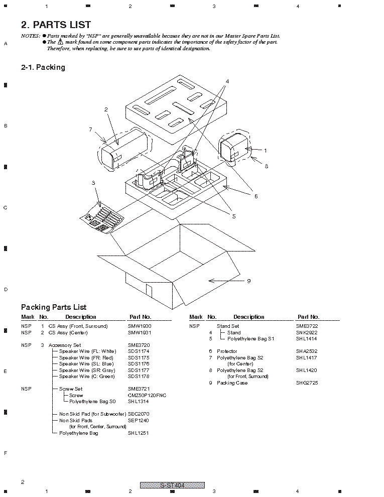 PIONEER S-ST404 SM Service Manual download, schematics