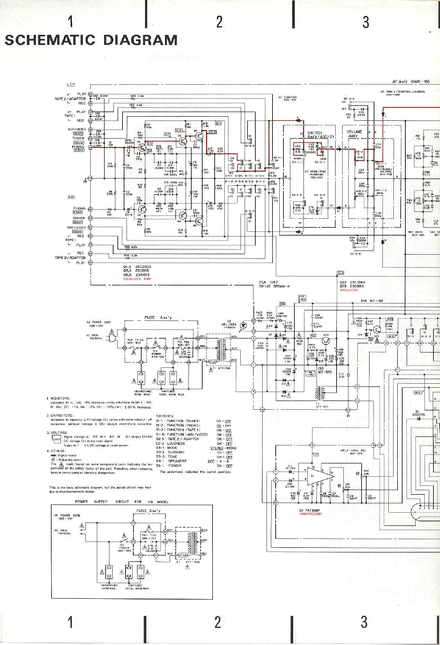 PIONEER SA-720 Service Manual download, schematics, eeprom
