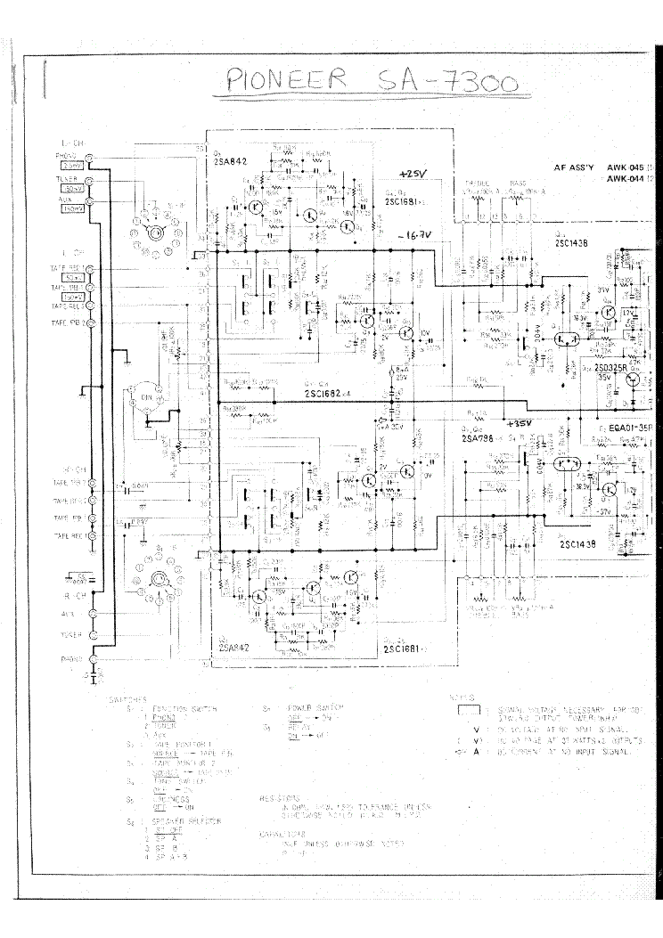PIONEER CT-90R SCH Service Manual download, schematics