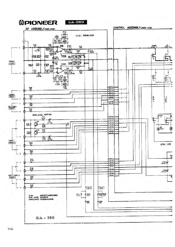 PIONEER SA-960 Service Manual download, schematics, eeprom