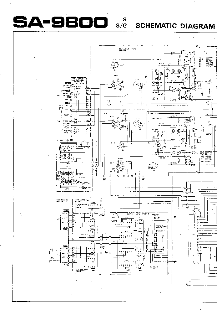 PIONEER SA-9800 Service Manual download, schematics