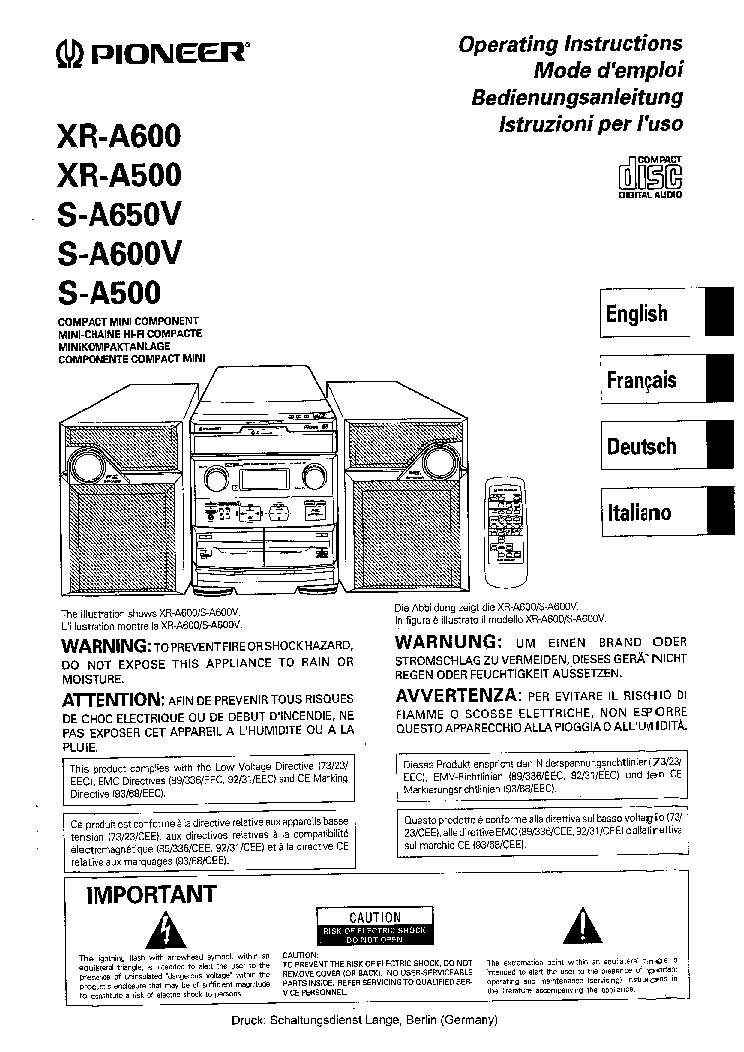 PIONEER RX-1330 SCH Service Manual free download