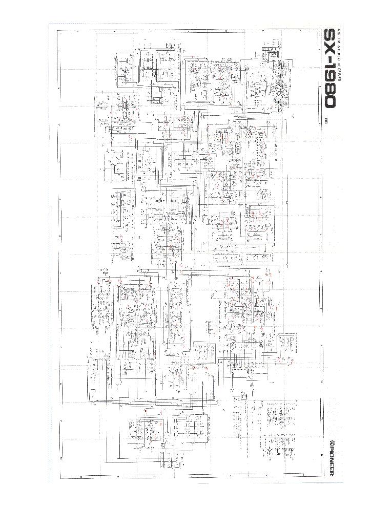 PIONEER SX-1980 SCH Service Manual download, schematics
