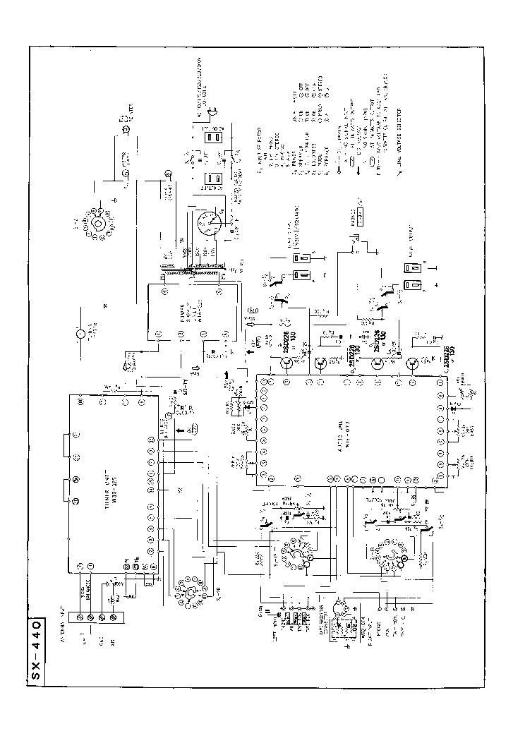 PIONEER SX-440 SCHEMATIC Service Manual download