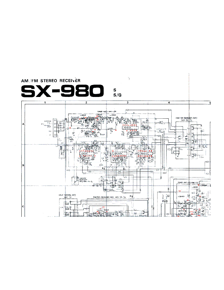 PIONEER SX-980 SCH Service Manual download, schematics