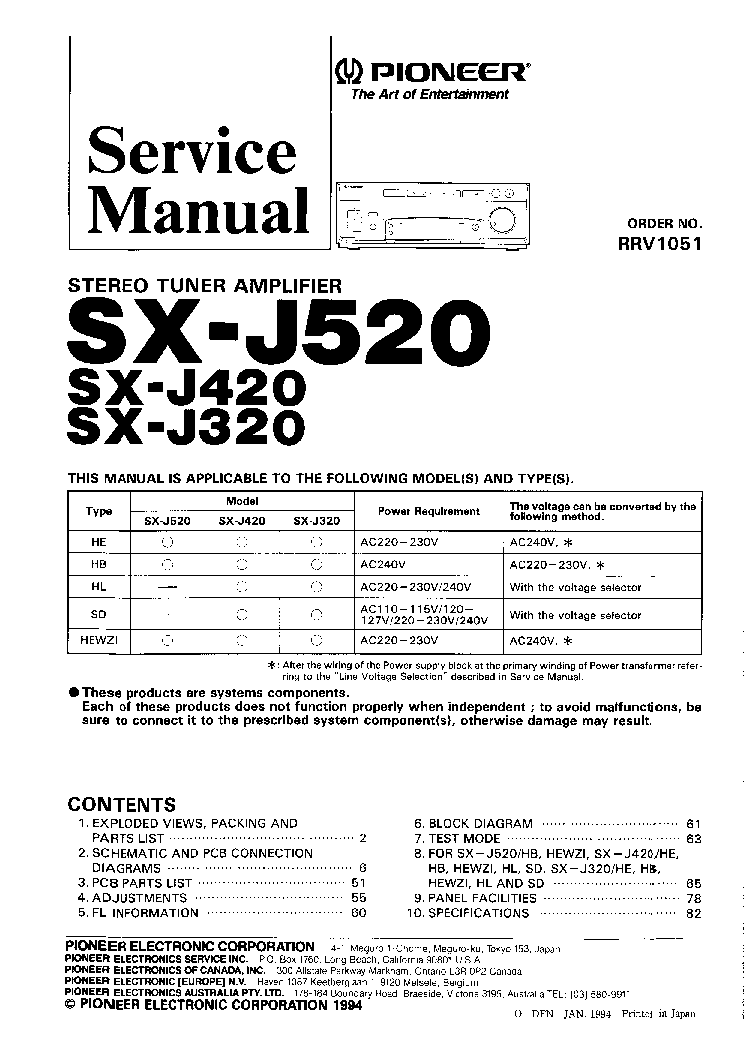 PIONEER CDJ-2000 SM Service Manual download, schematics