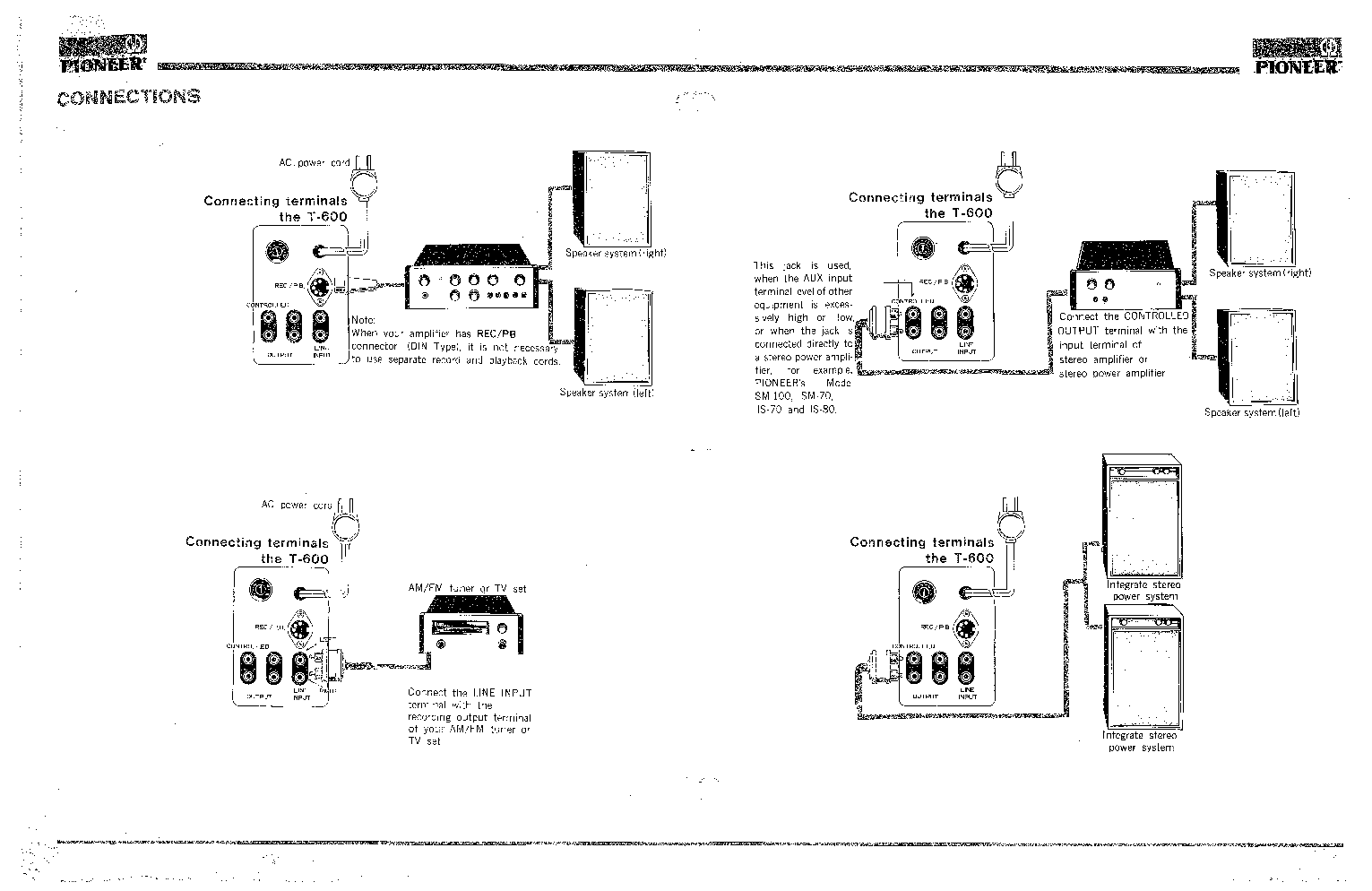 PIONEER T-600 STEREO TAPE DECK SCH Service Manual download