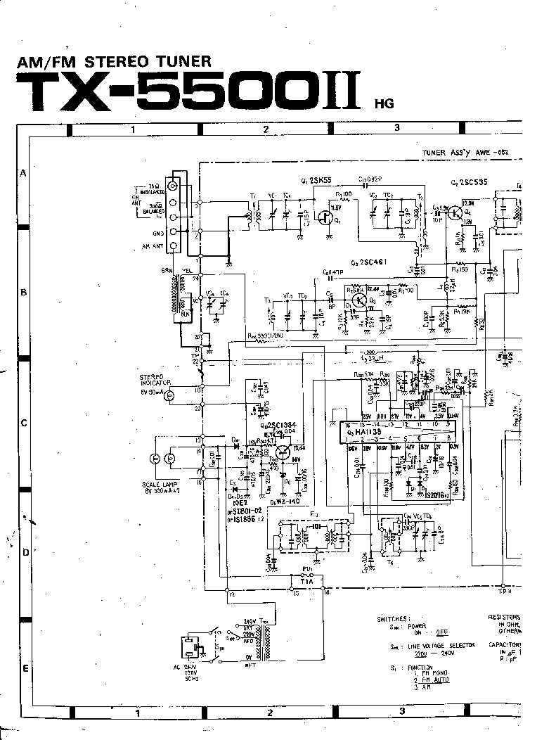 PIONEER TX-5500 SCH Service Manual download, schematics