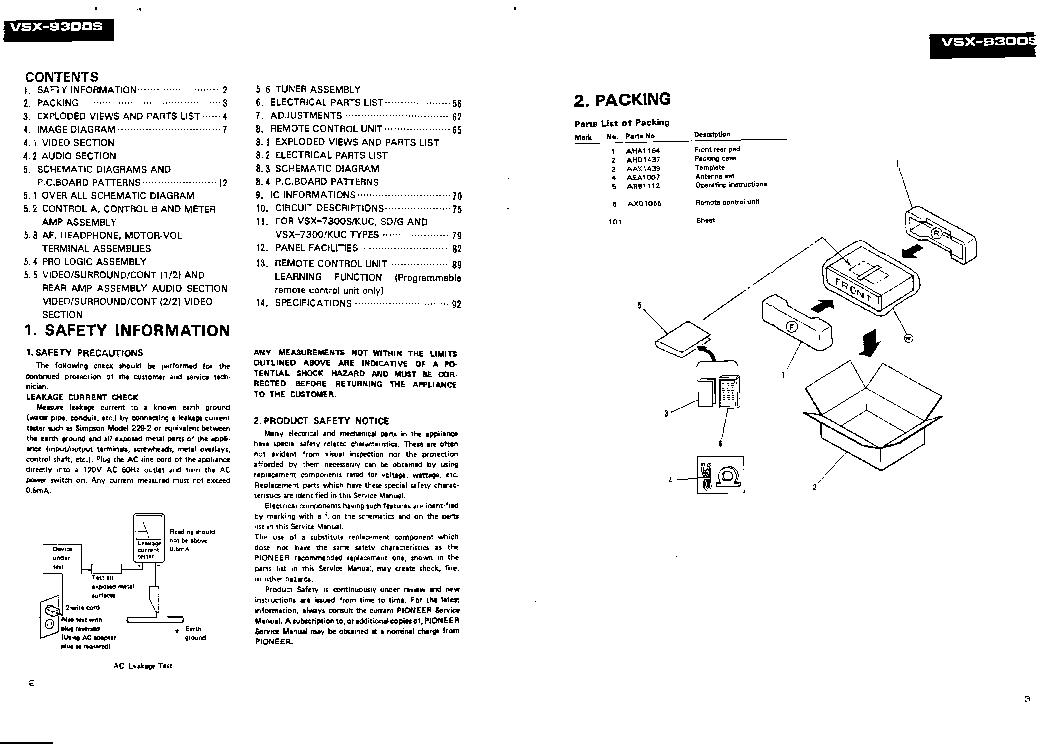 PIONEER VSX-9300S VSX-7300S VSX-7300 Service Manual