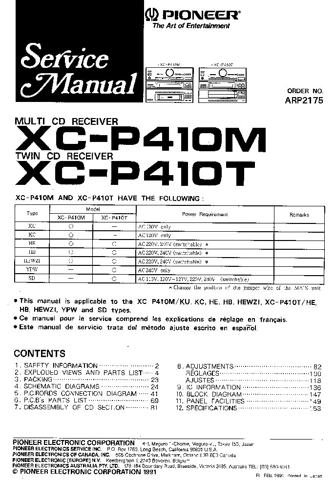 PIONEER S-DV77SW Service Manual download, schematics