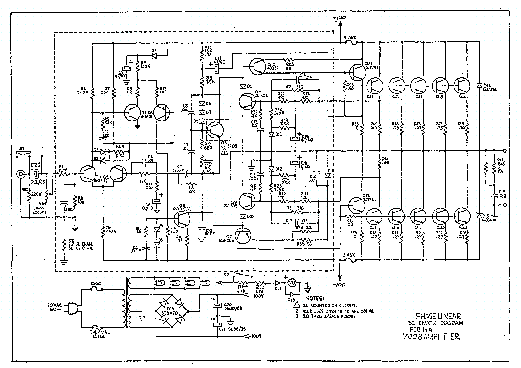 PHASE LINEAR 700B Service Manual download, schematics