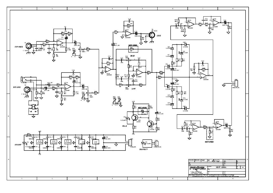 PROEL NEXT-12HBA SCH Service Manual download, schematics