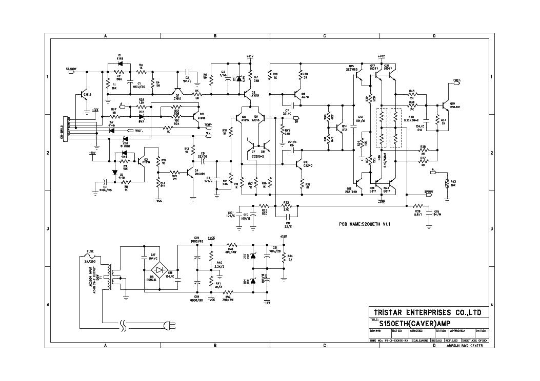 PROSON S150ETH AMPLIFIER SCH Service Manual download