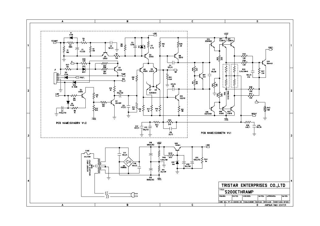 PROSON S200ETHR AMPLIFIER SCH Service Manual download