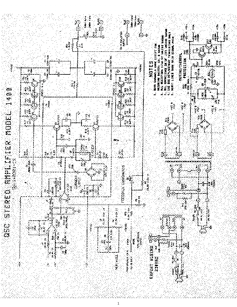QSC 1400 Service Manual download, schematics, eeprom