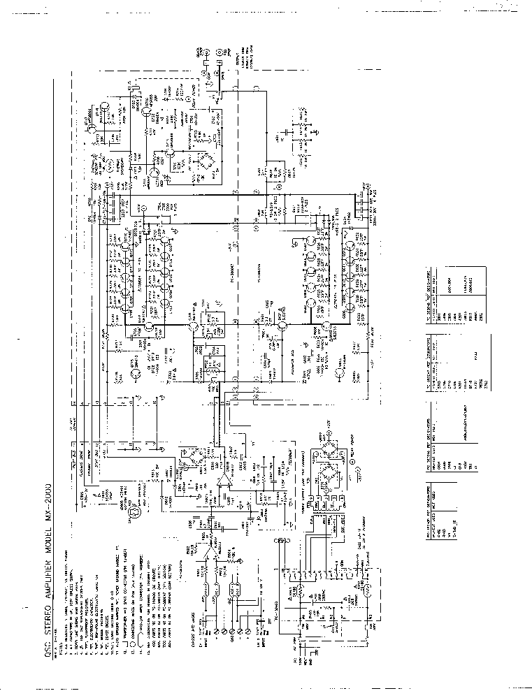 QSC MX2000 SCH Service Manual download, schematics, eeprom
