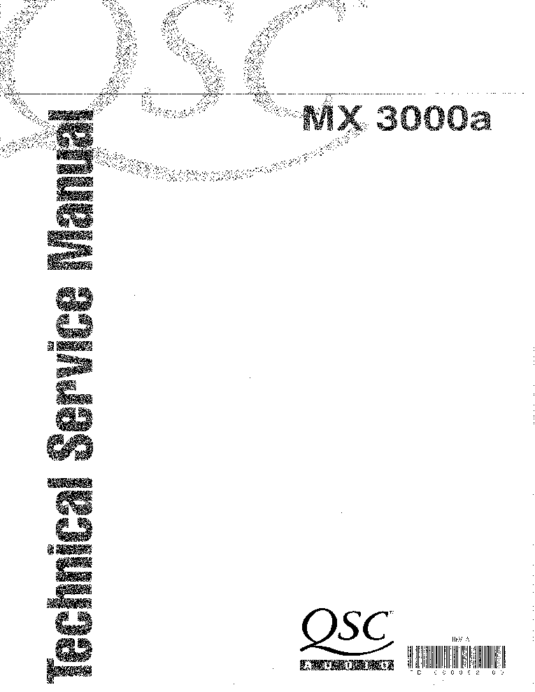 QSC MX3000A SM Service Manual download, schematics, eeprom