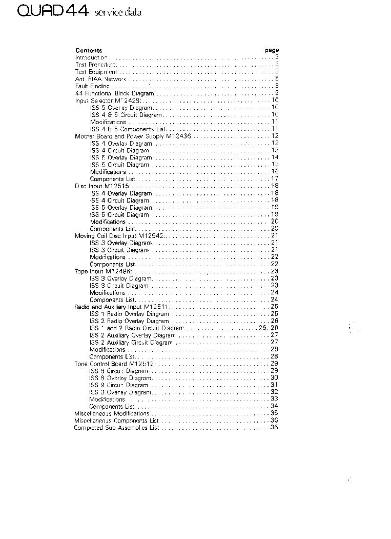 QUAD 44 SERVICE-DATA Service Manual download, schematics