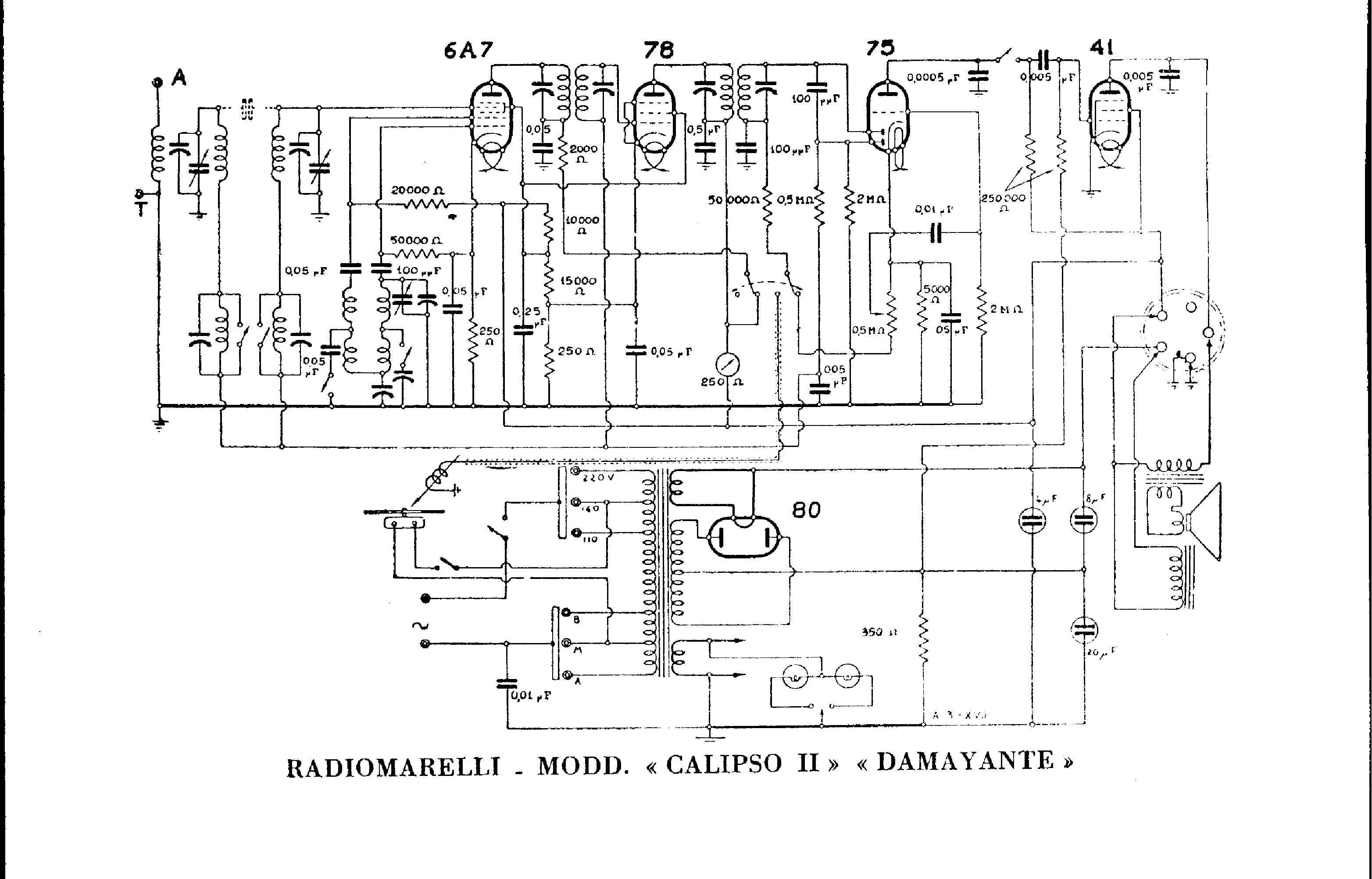 RADIOMARELLI DAMAYANTE Service Manual free download