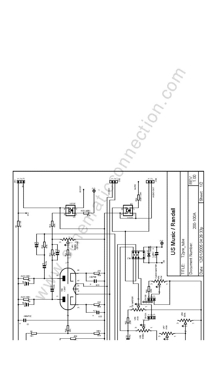 RANDALL T2 SCH Service Manual download, schematics, eeprom