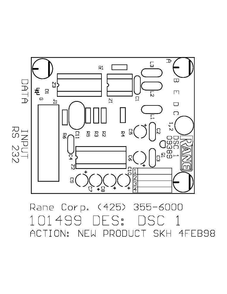 RANE SAC22 Service Manual download, schematics, eeprom