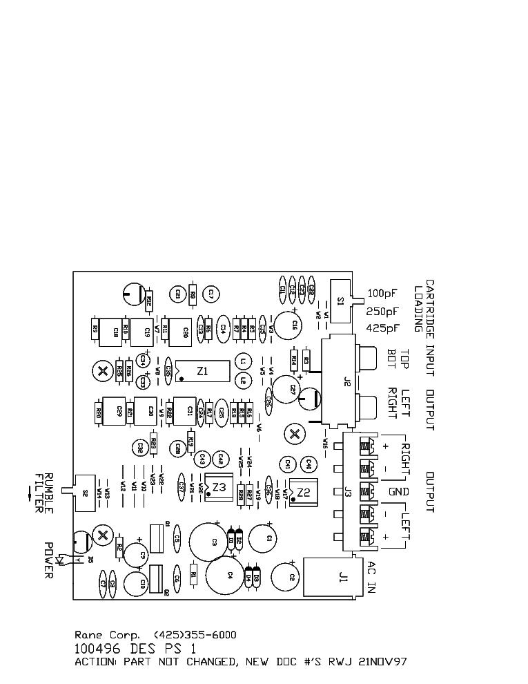 RANE PS1 SCH Service Manual download, schematics, eeprom