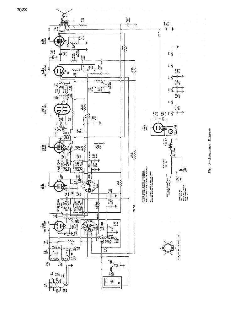 RCA VICTOR 702X SM Service Manual download, schematics