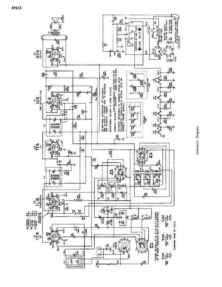 RCA VICTOR BP61X SM Service Manual download, schematics