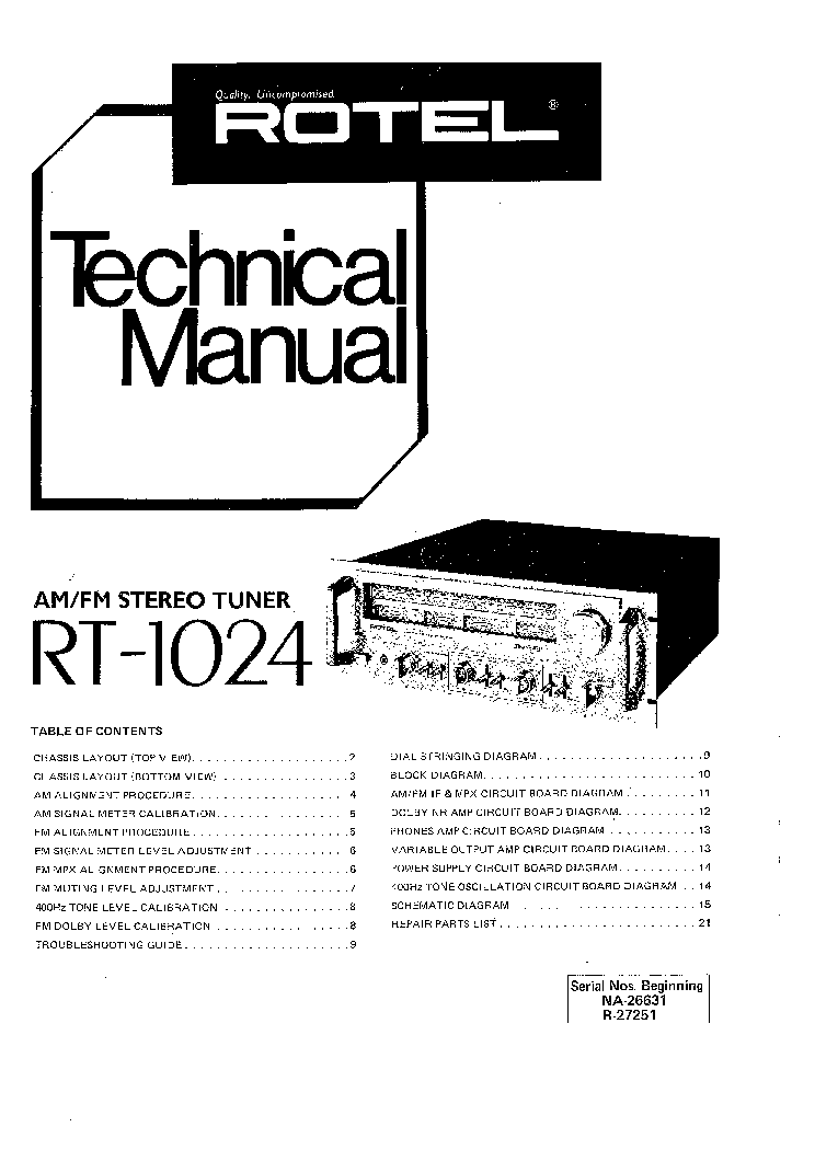 ROTEL RA-945 SM Service Manual free download, schematics