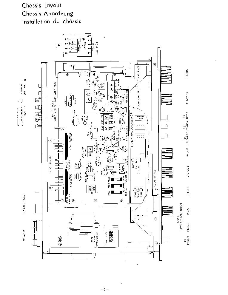 ROTEL RX-300 SM Service Manual download, schematics