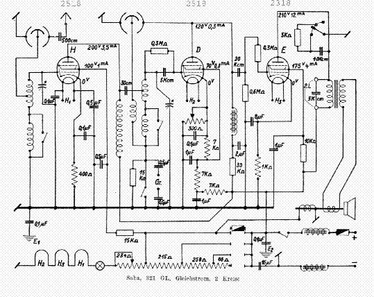 SABA 452 WK RADIO REGI 1938 SCH Service Manual download