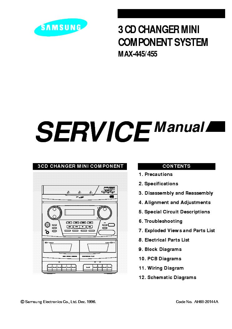 SAMSUNG MAX 335 SCH Service Manual download, schematics