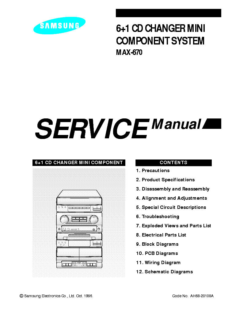 SAMSUNG MAX-N72 N73 N75 SM 2 Service Manual download