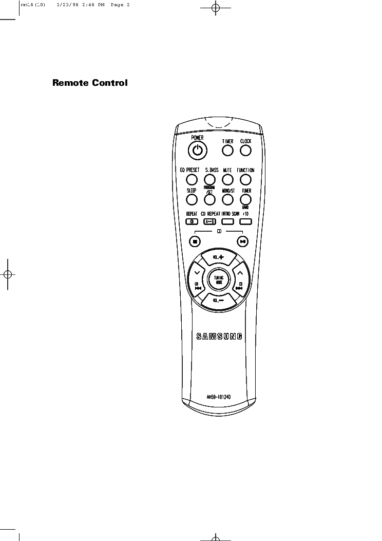 SAMSUNG MM-18 HIFI SYSTEM SM Service Manual download